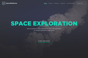 Space Exploration Free Web Template PSD