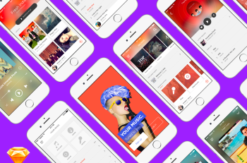 Music App — Free UI Kit для Sketch